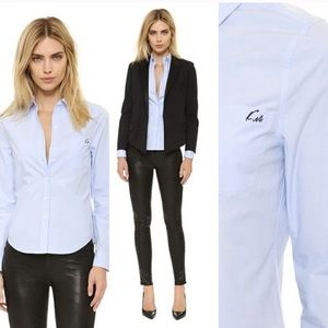Equipment Kate Moss Oxford Blouse French Blue L